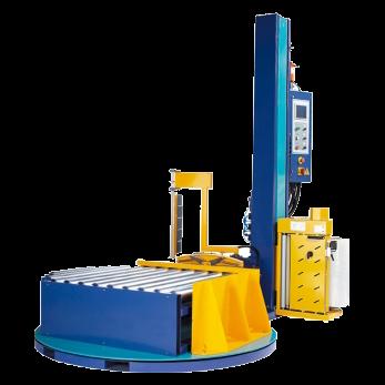 Паллетоупаковщик для упаковки паллет в стрейч-пленку с конвейером ЕХР-501А