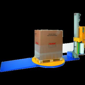 Полуавтоматическая машина для упаковки паллет в стрейч-пленку (паллетообмотчик) FS400