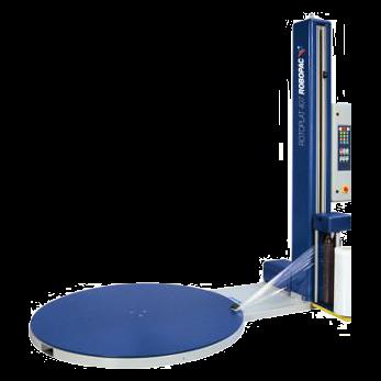 Полуавтоматическая машина для упаковки паллет в стрейч-пленку (паллетообмотчик) модель Rotoplat 407 FS/ТР 407 FS