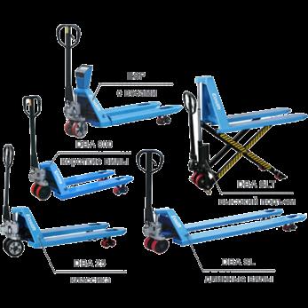 Гидравлические тележки Eoslift моделей DBA/ESP/SLT