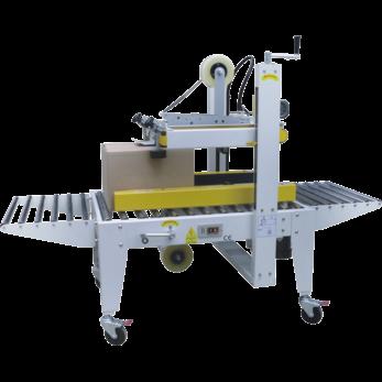 Полуавтоматический заклейщик коробов с верхним и нижним приводными ремнями GPA-50P
