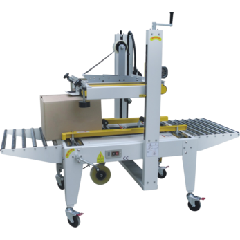 Полуавтоматический заклейщик коробов с верхним и нижним приводными ремнями GPB-56