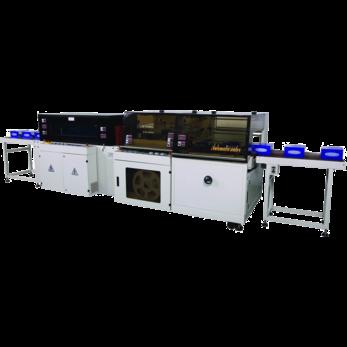 Автоматический L-образный обрезчик, модель TERMOLINE  TL-5545TBD и термоусадочный тоннель TERMOLINE TLM-5030LX
