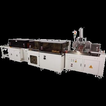 Автоматическая машина для упаковки в пленку с боковой запайкой шва, модель TERMOLINE TL 5545TBH и термоусадочный тоннель TERMOLINE TLM 5030LX