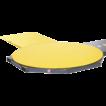 Подъездная рампа полуавтоматического паллетоупаковщика Paklet Siat F1