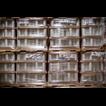 Образец упаковки поддонов с товаром паллетоупаковщиком