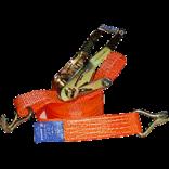 Стяжные ремни с натяжным устройством и крюками на концах