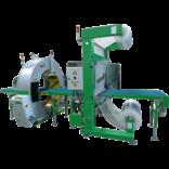 Автоматическая упаковочная линия с диспенсером для воздушно-пузырчатой/ПЭ пленки и орбитальный обмотчик модель Helios 125