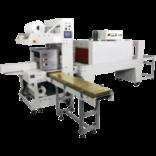 Полностью автоматическая машина для упаковки в рукавную пленку с укладкой в стопы, модель TERMOLINE TLT 6030AE и термоусадочный тоннель TERMOLINE TLM 6040